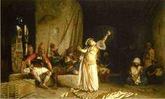 Jean-Leon Gerome  ( Fench Painter , 1824 – 1904)  – The Dance of the Almeh