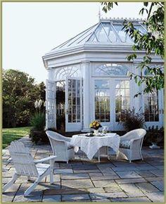 Conservatory with adjoining patio | Charisma Design   ᘡղbᘠ