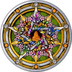 Beltane Pentacle Ornament (Round) on CafePress.com