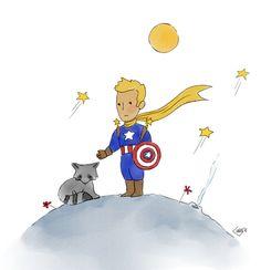 Little Prince | Steve Rogers & Bucky Racoon | stucky | starbucks