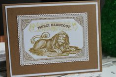Merci Beaucoup French Thank-you Card by AllOnAHeartString on Etsy