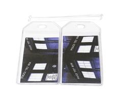 Luggage Tags Set of 2 Dr Who Tardis by BostonLinz on Etsy
