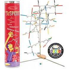 @Overstock - This Melissa & Doug Suspend game comes with 24 notched, rubber-tipped wire pieces to hang from a tabletop stand.  This tricky game is a test of steady nerves and steady hands and an exciting family activity for 1-4 players.http://www.overstock.com/Sports-Toys/Melissa-Doug-Suspend/6780892/product.html?CID=214117 $22.99