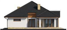 Projekt domu Kroton 116,1 m2 - koszt budowy 238 tys. zł - EXTRADOM Cottage Style Homes, Home Fashion, Cabin, House Styles, Home Decor, Decoration Home, Room Decor, Cottage, Cottage Style Houses