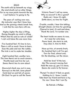 Flyers Prayer / Aviation Poetry by Patrick J Phillips / Poems & Gifts for Pilots