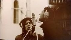 Richard Ashcroft and Liam Gallagher during the 'Be Here Now' recording sessions