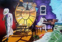 """LAST SONG BEFORE GOODBYE"" Oil on canvas.Size: 131 x 91 cm #art #painter #painture #surrealism"
