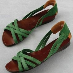 green suede on these sandals by Chie Mihara. °°°°°