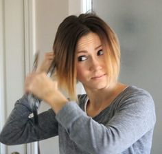 Flip Under Bobstyling hair with flat iron...Read more at www.hairstraighte...