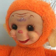 HTF Rare VTG Rubber Face Stuffed Monkey Doll Rushton? Gund? Knickerbocker?  | eBay