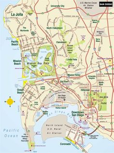 20 Best San Diego Maps images