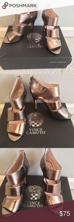 Vince Camuto Metallic Heels Size 6 NWOT Never Worn Vince Camuto Karmi Silver Metallic Heels. Size 6. Timeless and Classic. Box not included. Vince Camuto Shoes Heels