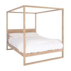 BED   queen or king strand 4 poster in teak by uniqwa