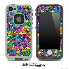 Neon Sprinkles Skin for the iPhone 5 or 4/4s LifeProof Case