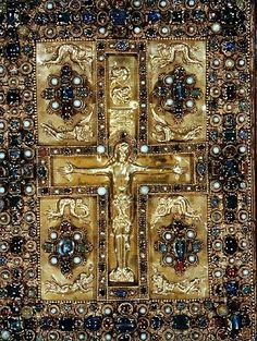 Lindau Gospels cover, detail