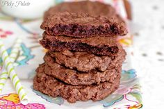 Thin Mint Double Chocolate Chip Cookies