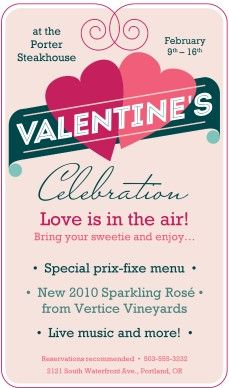 flyer for valentine's day event