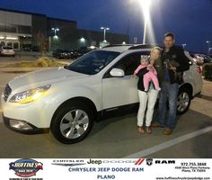 #HappyAnniversary to Aaron Vanemburg on your 2012 #Subaru #Outback from Everyone at Huffines Chrysler Jeep Dodge RAM Plano!