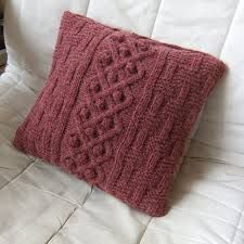 Image result for knit pillow cover
