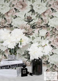 Light Peony Removable Wallpaper / Self Adhesive or Regular