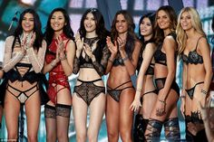 The girls all worked their magic on the catwalk at the Grand Palais in Paris on Wednesday night as the hotly-anticipated show began.
