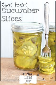 Sweet Pickled Cucumber Slices