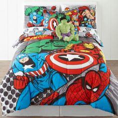 Marvel® Comics Avengers® Twin/Full Reversible Comforter + BONUS Sham  found at @JCPenney