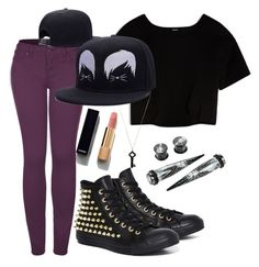 """""""Untitled #92"""" by xcastielx ❤ liked on Polyvore featuring 2LUV, Converse, Max&Co., Kristin Hanson and Chanel"""