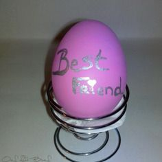 Oeuf messager rose pour ma best friend