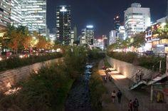 Seoul, Cheonggyecheon, Cheonggyecheon Stream, Cheonggyecheon restoration, south…