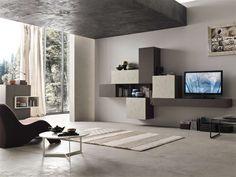 Simple Wohnzimmer Wandverbau Wohnraum