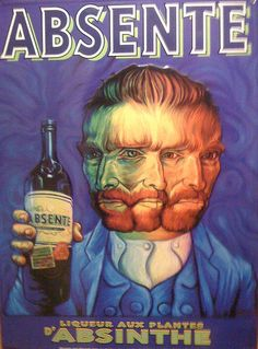 ATT : Alcohol to try : Absinthe : Happy National Absinthe Day! Did you know Van Gogh was a famed drinker of the libation? Green Fairy Absinthe, Pub Vintage, Advertising Poster, Clever Advertising, Illustrations And Posters, Vintage Advertisements, Travel Posters, Van Gogh, Vintage Cartoon