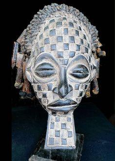Fine Tribal Chokwe Rasta Mask Angola by curatedinternational