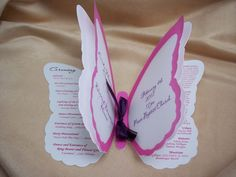 wedding invited - butterfly shaped