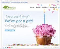 Origins #BirthdayEmail