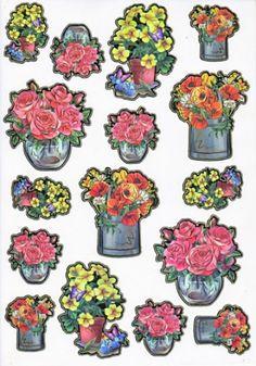 Ultra Gloss Sticker Bogen, Frühlingsblumen & Rosen