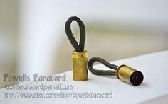Bullet Shell Paracord Zipper Pulls. $3.00, via Etsy.