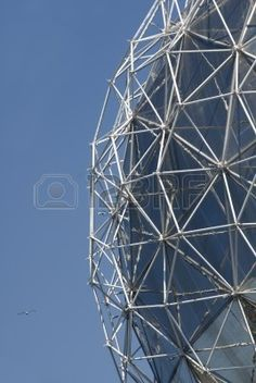 Ein Detail einer geodätischen Kuppel, Stockfoto - 2460337