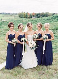 Photography: When He Found Her, Reid Lambshead whenhefoundher.com Wedding Dress: Vera Wang verawang.com Bridesmaids' Dresses: Bill Levkoff billlevkoff.com Planner: Bliss, Lisa Garofalo www.blissevents.ca View more: http://stylemepretty.com/vault/gallery/30402