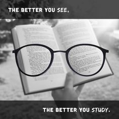 STUDYING can be a STRUGGLE, but it shouldn't be because of an old prescription on your glasses or contacts. Schedule an eye exam and get your prescription updated!