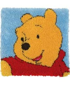 I was obsessed with latch hook rugs...had Winnie the Pooh one just like this:)