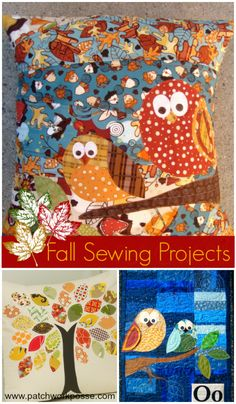 Free Fall Applique Templates