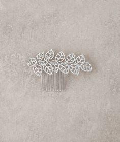 Magnifique Peigne bijou en vieil argent et strass   Pronovias