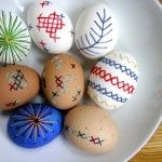 Embroidered Easter Eggs...no way!