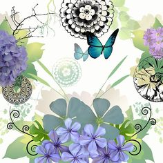 Swirlee green and blue