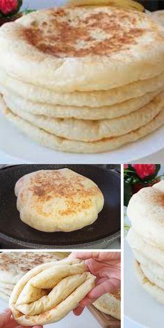 Pita Recipes, Baking Recipes, Vegan Recipes, Breakfast On The Go, Russian Recipes, Food Design, Bread Baking, Good Food, Food And Drink