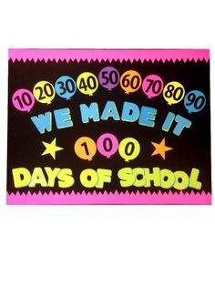 100 Days of School Poster Idea #100Days