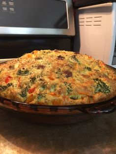 Simple crustless quiche recipe. www.fitactivelife.com