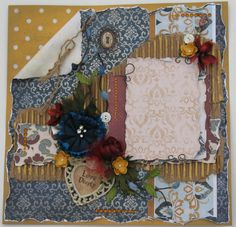Premade Scrapbook Page Layout 12x12 Vintage by DianesNiceties, $26.99