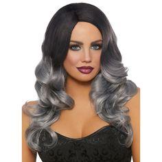 Grey Beard Dye, Black Grey Ombre, Gray, Long Black, Dark Blue, Grey Wig, Ombre Wigs, Baddie Hairstyles, Ponytail Hairstyles